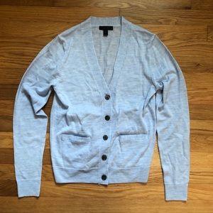 J. Crew Merino Wool V-Neck Cardigan Sweater